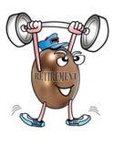 Weightlifter da aposentadoria. ilustração royalty free