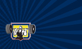 Weightlifter Lifting Heavy Barbell Retro Stock Photography