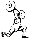 Weightlifter lifting weights Stock Images