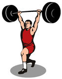 Weightlifter lifting weights Stock Image