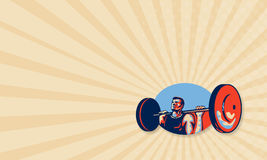 Weightlifter Lifting Weights Retro Stock Photography