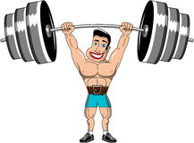 Weightlifter Man Muscular Power Lifting Isolated Stock Images