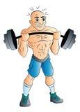 Weightlifter maschio, illustrazione Fotografia Stock Libera da Diritti