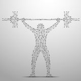 Weightlifter poly gray Royalty Free Stock Photos