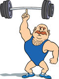 Weightlifter que usa el dedo Imagenes de archivo