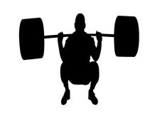 Weightlifter. Silhouette illustration for designer Royalty Free Stock Photography