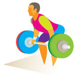 Weightlifter in the snatch attempts rod Royalty Free Stock Image