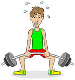 Weightlifter during training. Vector illustration of a weightlifter during training Royalty Free Stock Images