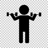 Weightlifter. Vector icon person. Weightlifter. Vector icon illustration person Stock Image