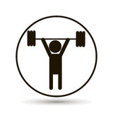 Weightlifter. Vector person. Vector icon. Weightlifter. Vector person. sportsman and athlete Royalty Free Stock Photos