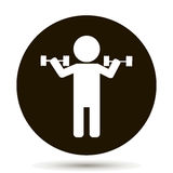 Weightlifter. Vector person. Vector icon. Weightlifter. Vector person. sportsman and athlete Stock Photo