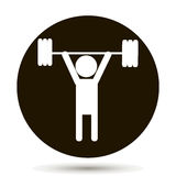 Weightlifter. Vector person. Vector icon. Weightlifter. Vector person. sportsman and athlete Stock Photos
