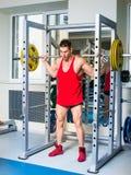 Weightlifterhurkzit Stock Afbeelding