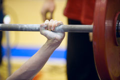 Weightlifting Photographie stock