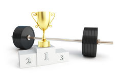 Weightlifting champion Royalty Free Stock Image