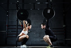 Weightlifting champions Royalty Free Stock Image