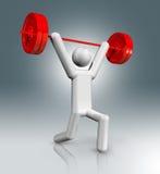 Weightlifting 3D symbol, Olimpijscy sporty Obrazy Royalty Free