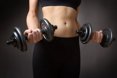 Weightlifting dumbells Royalty Free Stock Photo