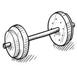 Weightlifting equipment drawing Stock Photography