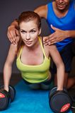 Weightlifting exercise Stock Photos