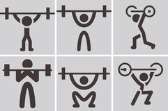 Weightlifting icons Stock Photography