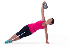 Weightlifting with kettle-bell Royalty Free Stock Images