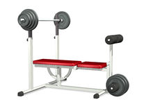Weightlifting-Leistung-Bank Lizenzfreie Stockfotografie