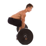 Weightlifting, side view. Royalty Free Stock Images
