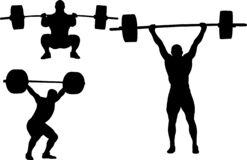 Weightlifting silhouettes set