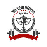 Weightlifting sport club vector icon Royalty Free Stock Images