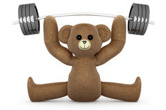 Weightlifting Teddy Royalty Free Stock Photo