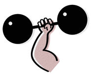 Weightlifting vector Stock Image