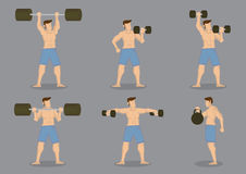 Weightlifting Vector Icon Set Stock Images