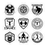 Weightlifting Vector Icons 37. Here is an awesome set of weightlifting badges that you are sure to find very useful. Hope you really enjoy using them Royalty Free Stock Photo