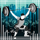 Weightlifting vector people Royalty Free Stock Images
