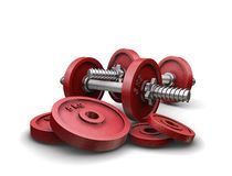 Weightlifting weights Royalty Free Stock Photography