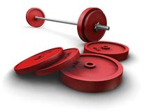 Weightlifting weights Stock Photo