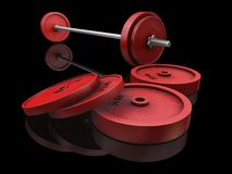 Weightlifting weights Stock Images