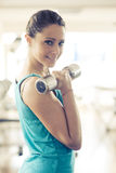 Weightlifting workout at gym Stock Photography
