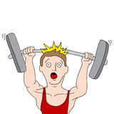 Weightlifting wypadek Obrazy Royalty Free