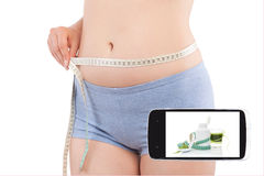 Weightloss in information age. Royalty Free Stock Photos