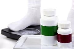 Weightloss or Weight Gain Supplements Stock Photos