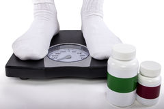 Weightloss or Weight Gain Supplements Royalty Free Stock Image
