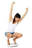 Weightloss woman joy Royalty Free Stock Photography