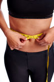 Weightloss woman Royalty Free Stock Images