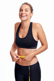 Weightloss woman Stock Images