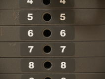 Weights. Stacked from 5 to 8 Royalty Free Stock Image