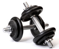 Weights. Isolated on white background Royalty Free Stock Photography
