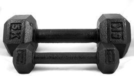 Weights. 5 and 1 Kilogram Weights stock image