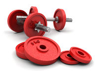Weights royalty free illustration